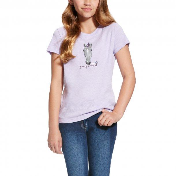Ariat Girls Party Animal T-shirt, lilla